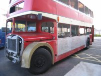 557BNG undergoing restoration work at BusWorks