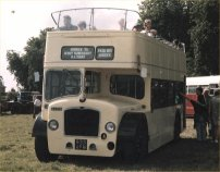 833AFM in Crosville cream open-top livery