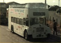 833AFM in Crosville white open-top livery