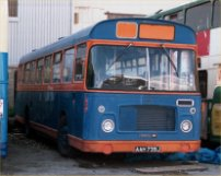 AAH739J in Bluebird Coaches livery