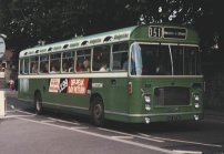 EHU373K in NBC green livery with Badgerline vinyls