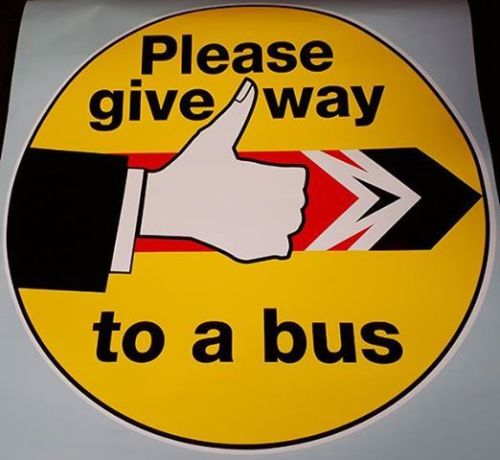 Please give way to a bus