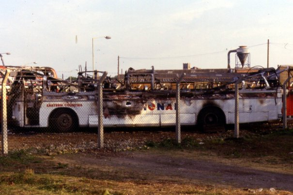 GVF887D destroyed by fire