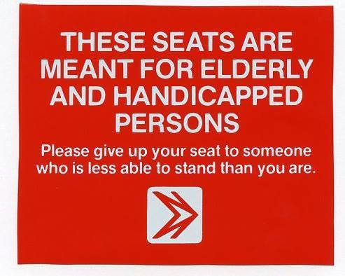 Seats for the Handicapped