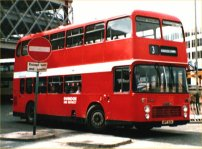 HPT82N in modified NBC red livery with Swindon & District fleetnames