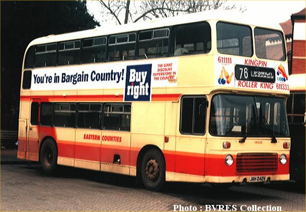 JAH242V in GRT Eastern Counties livery