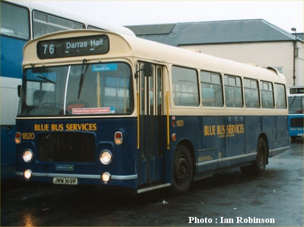 JMW169P in Blue Bus Services livery