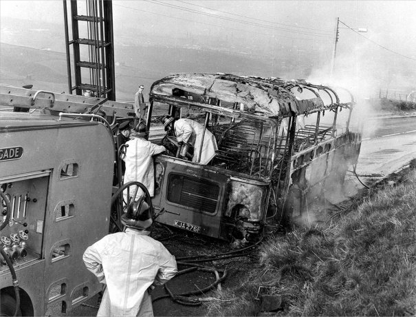 KJA276F destroyed by fire in 1969