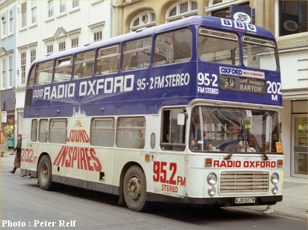 KJO507W in Radio Oxford adveritising livery