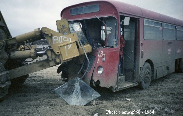 LRN282J in collision with a digger in 1984