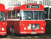 NWU325 in NBC red livery with Red Bus fleetnames