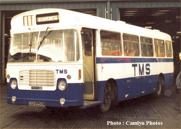 NYD440L in Trimdon Motor Services livery