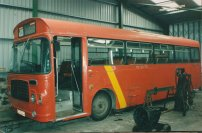 OCA622P in Lewis red livery with Bwws Gwynedd red front