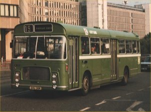 OHU38M in NBC green livery