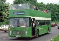 UWV622S in open-top format in NBC green livery