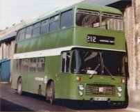 UWV622S in closed-top format in NBC green livery